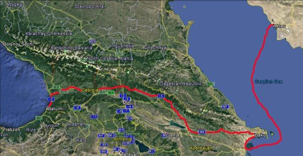 Aktau to Batumi