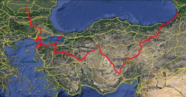 Batumi to Bulgaria