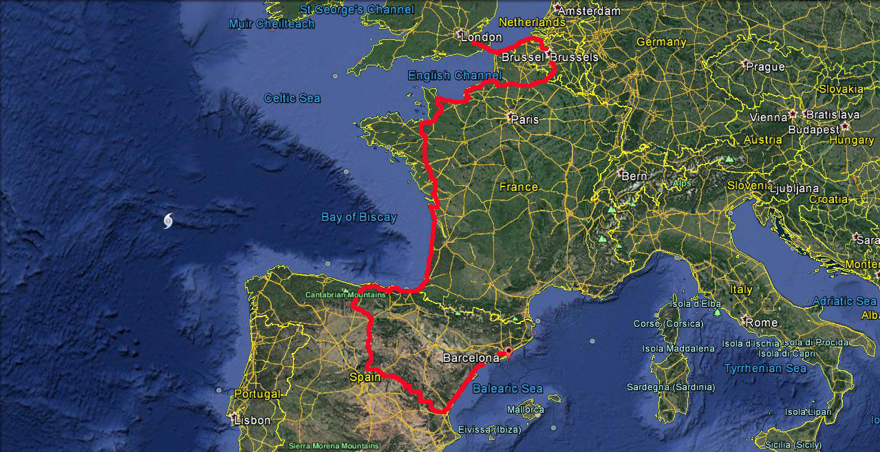 Barcelona to London